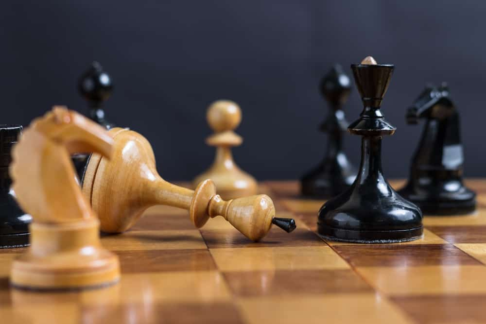Chess game. Chess king is checkmated