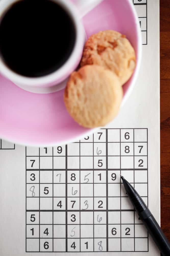 Coffee and sudoku puzzle