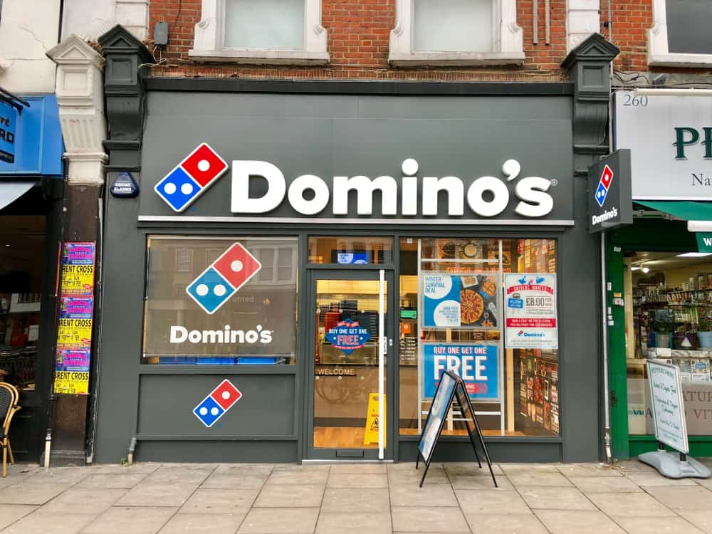 Domino's Pizza take away pickup and delivery shop