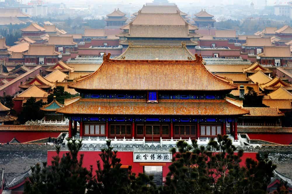 Forbidden City in Beijing, China dominoes