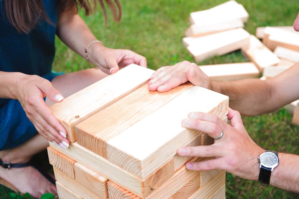 Giant Outdoor Block Game - Image