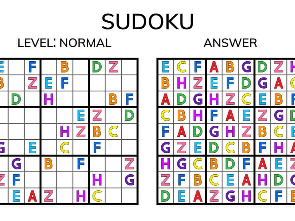 Magic square. Logic puzzle game sudoku