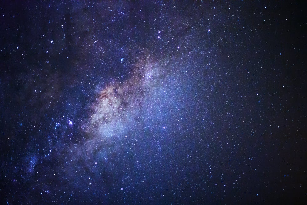 Milky way galaxy with stars and space chess
