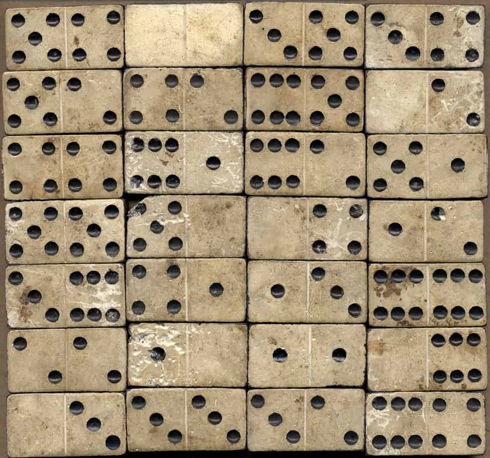 Old domino stones