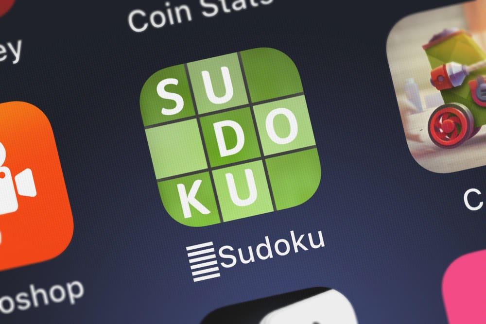 Sudoku icon from Brainium Studios LLC on an iPhone