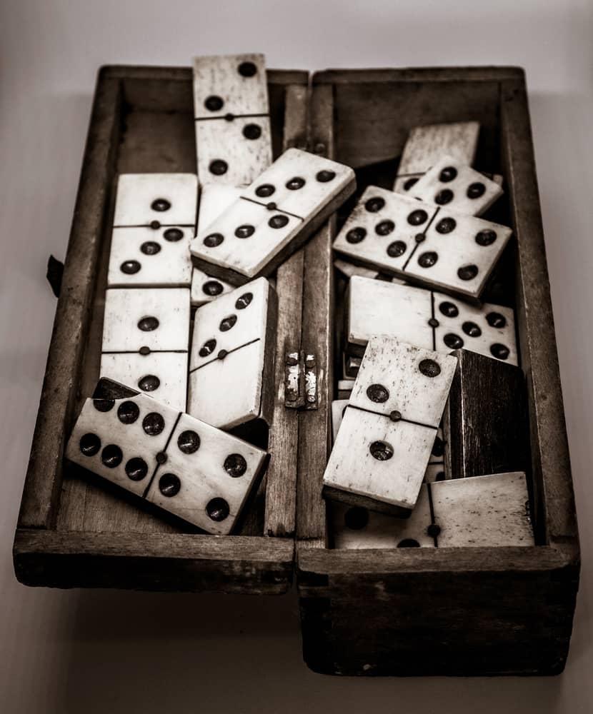 Vintage Ivory Old Domino Game