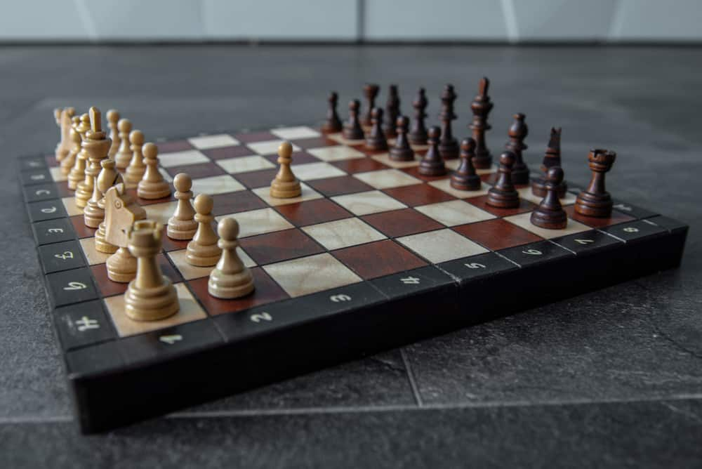 White pawn made first move chess