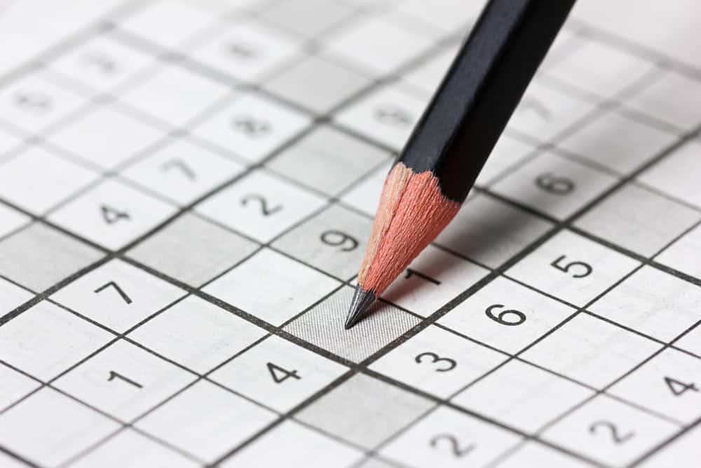 crossword sudoku and pencil