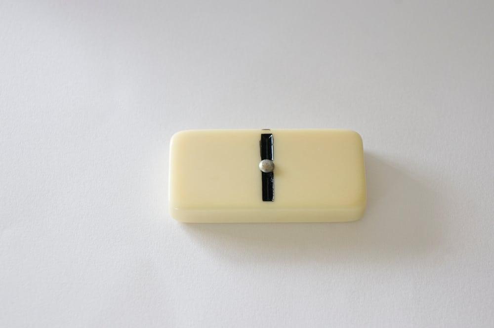 domino isolated white background zero game piece