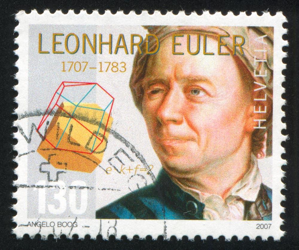 stamp printed by Switzerland, shows Leonhard Euler, Mathematician sudoku