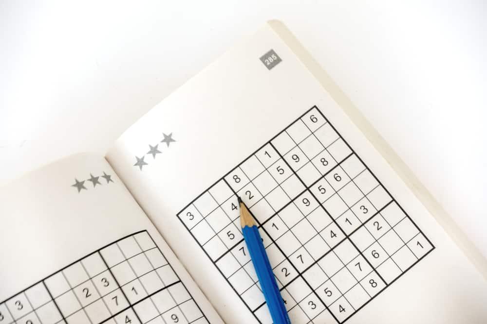 sudoku book isolated on white - Image