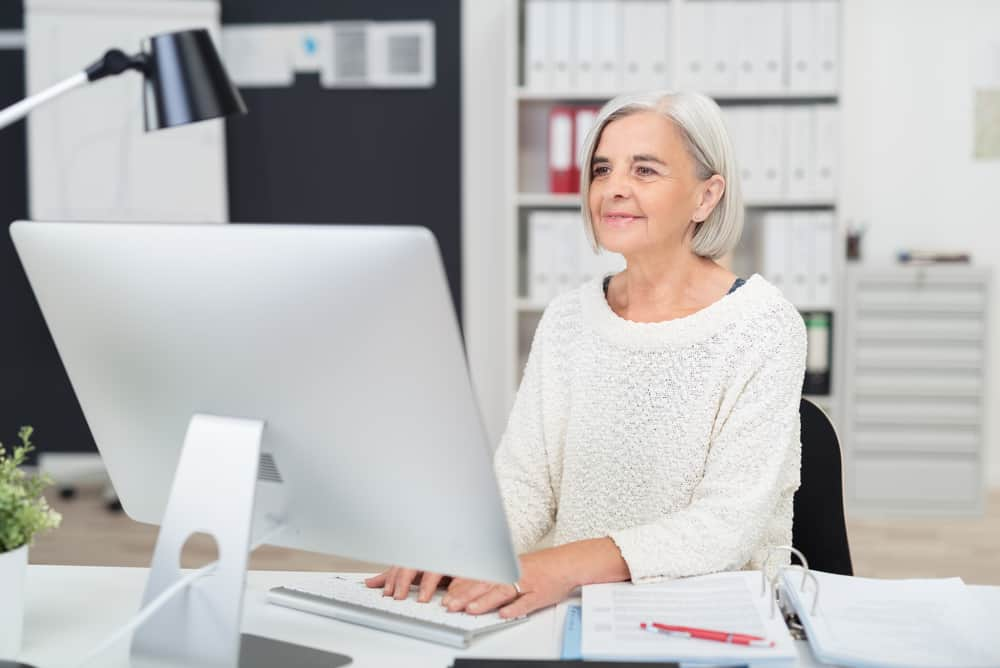 woman at work sudoku
