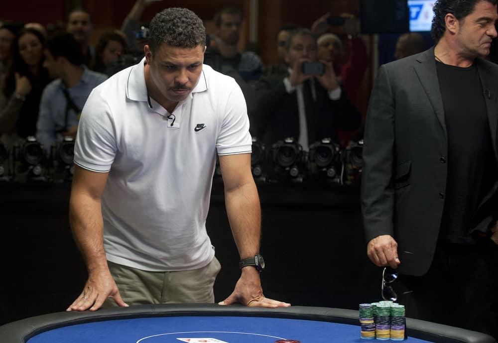 Brazilian football player Ronaldo during charity poker tournament in Prague