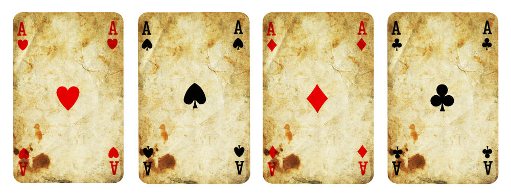 Four Aces Vintage Playing Cards