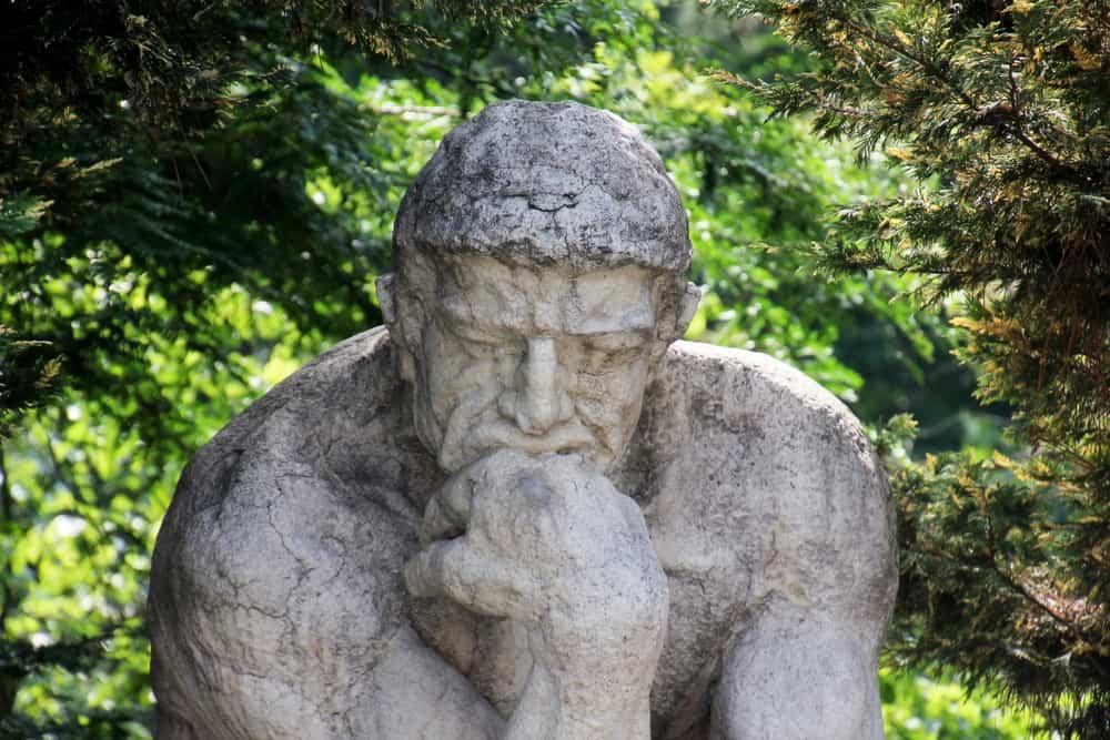 The thinking man sculpture