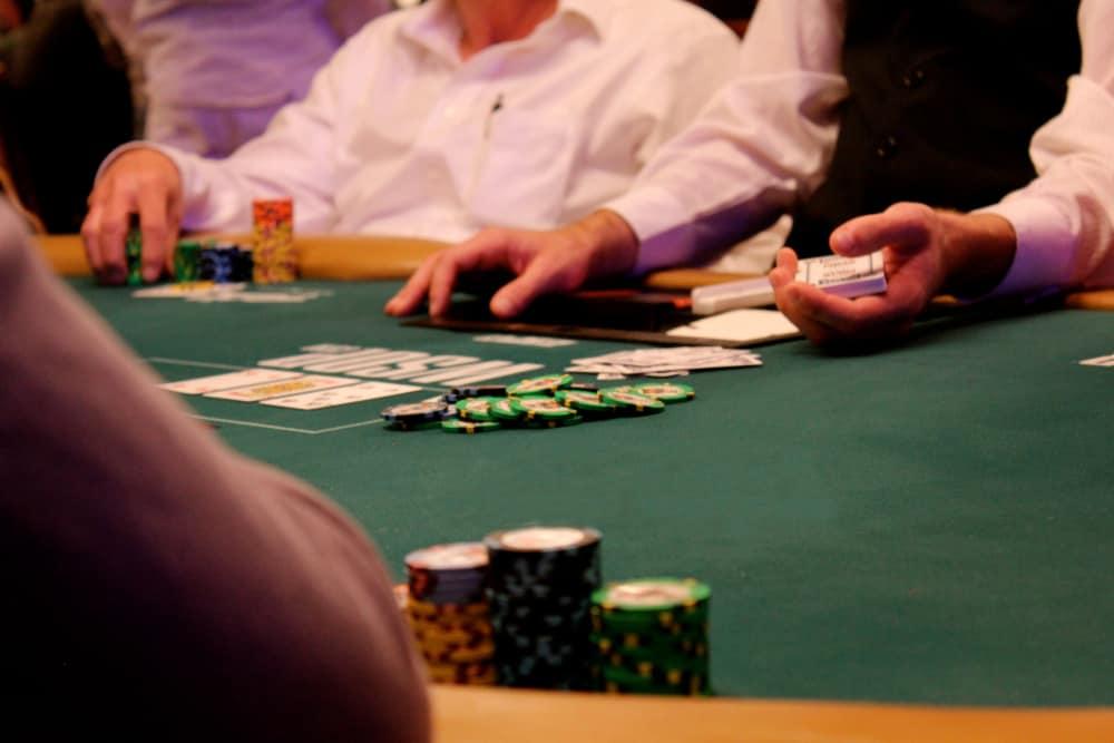 casino player poker chips