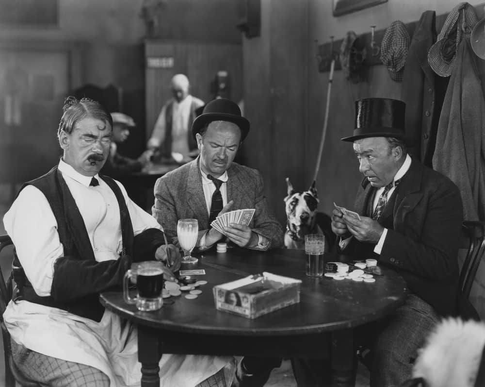 early 1900s playing poker