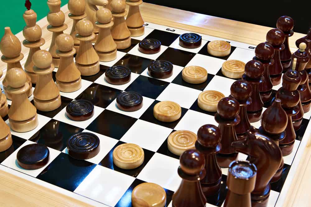 Chess and checkers on the same board 2