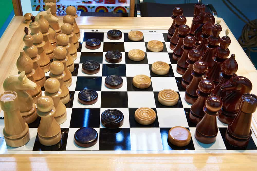Chess and checkers on the same board