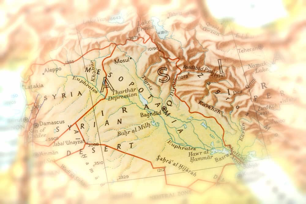 Traveler focused on Mesopotamia, Iraq