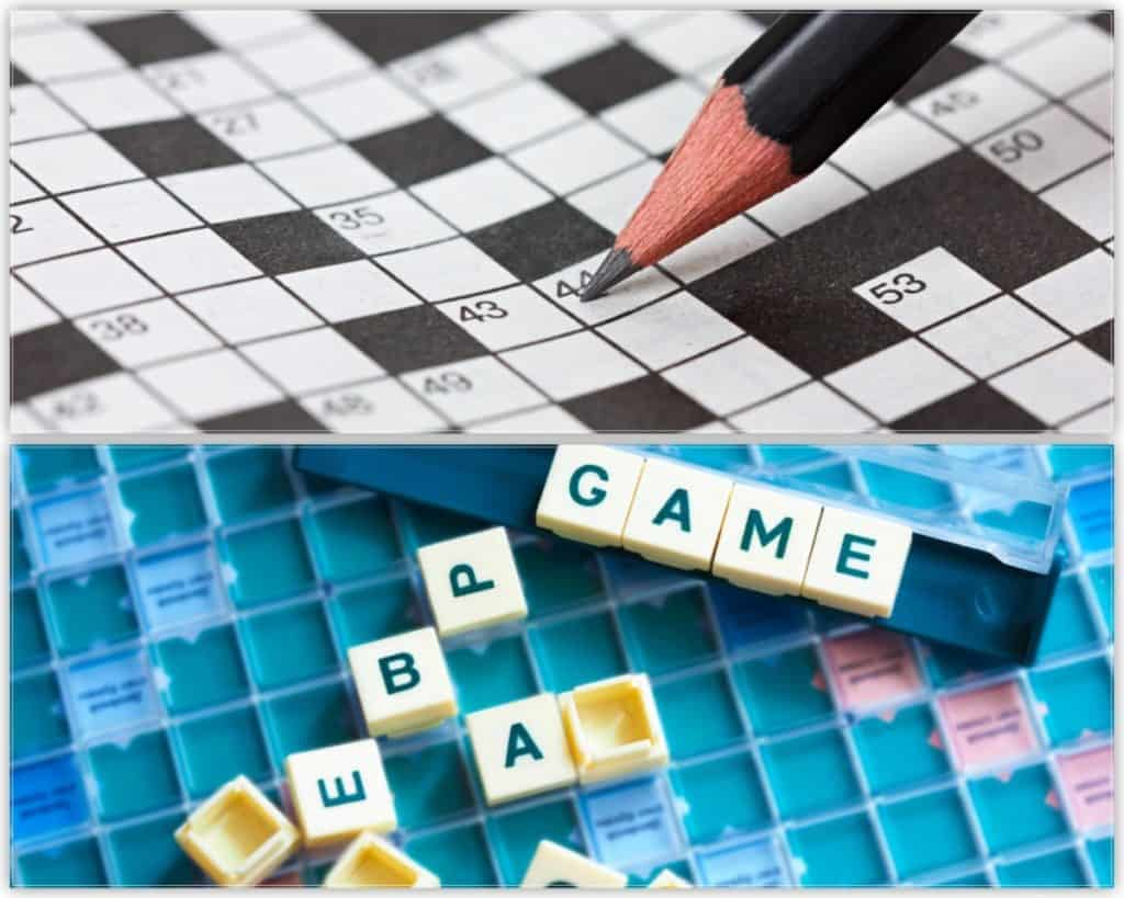 Crossword and scrabble together