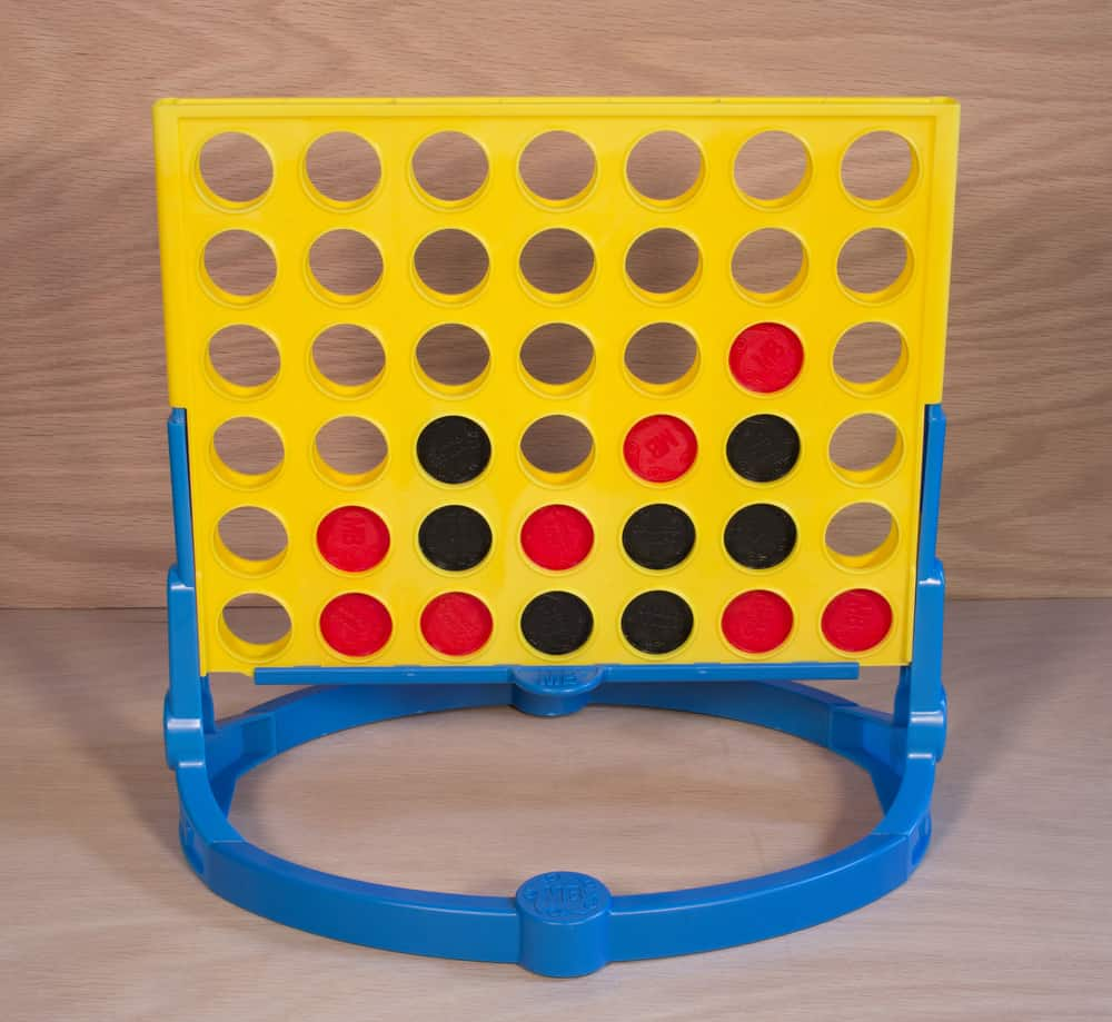 A vintage Connect Four game by Milton Bradley