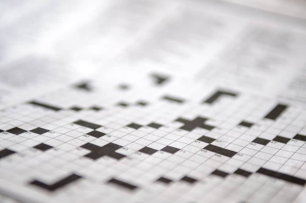 Blank crossword puzzle waiting to be filled in