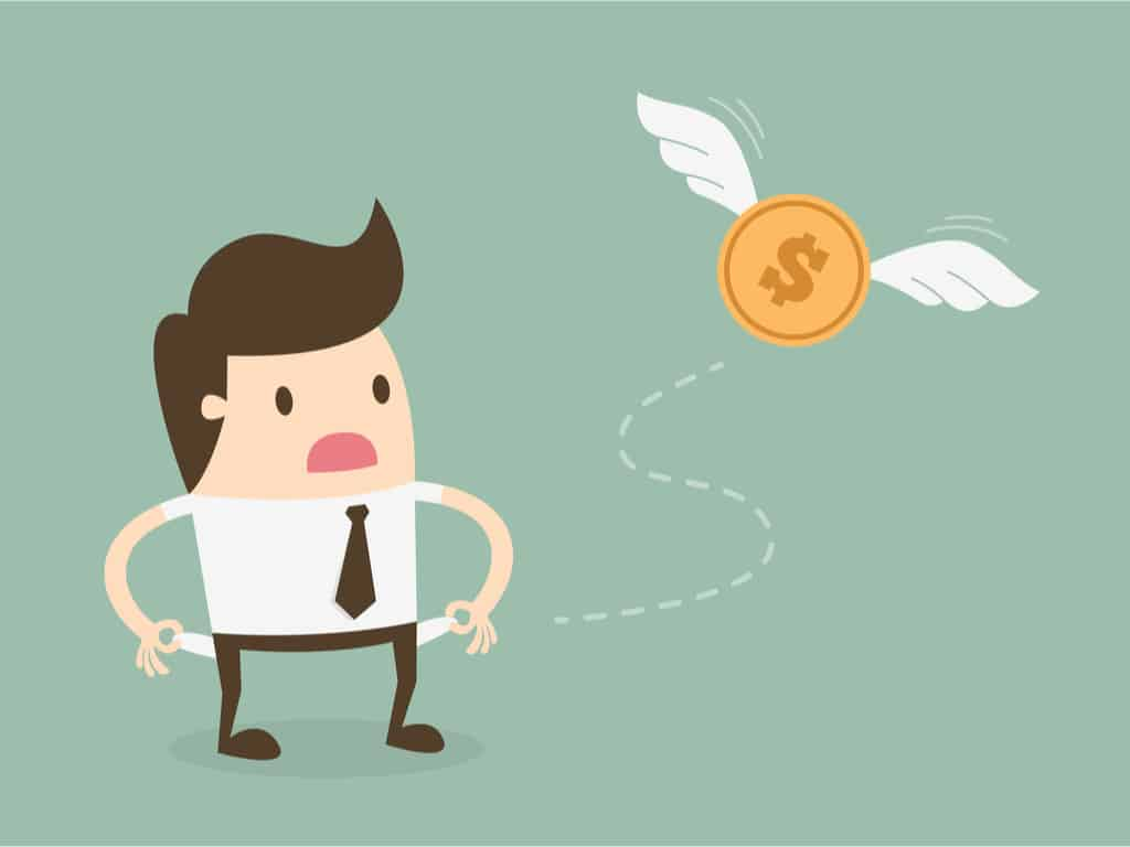 Businessman has no money, bankrupt