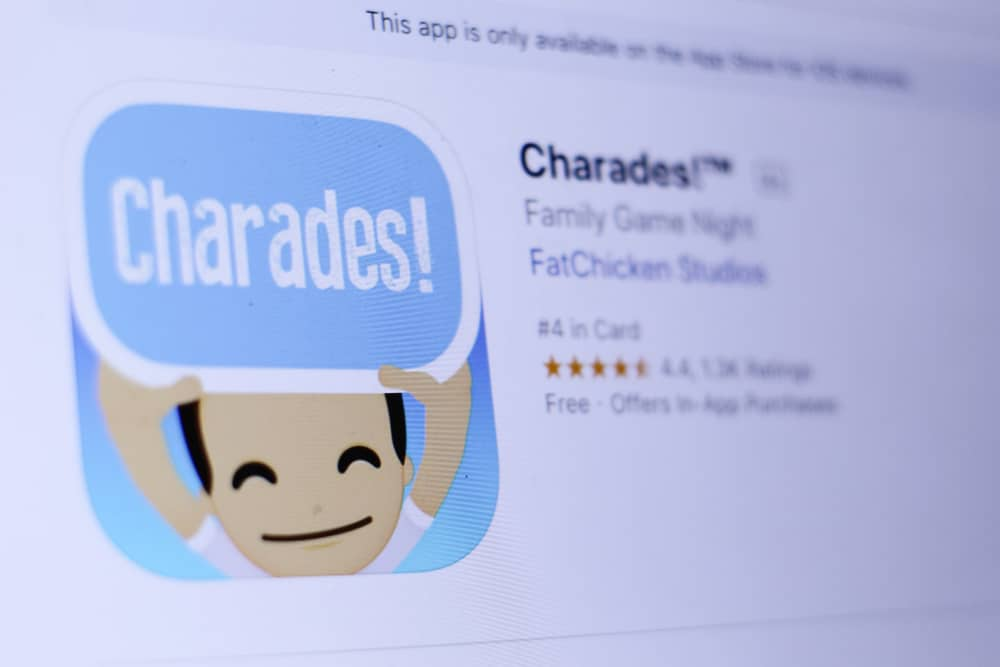 Charades app in store