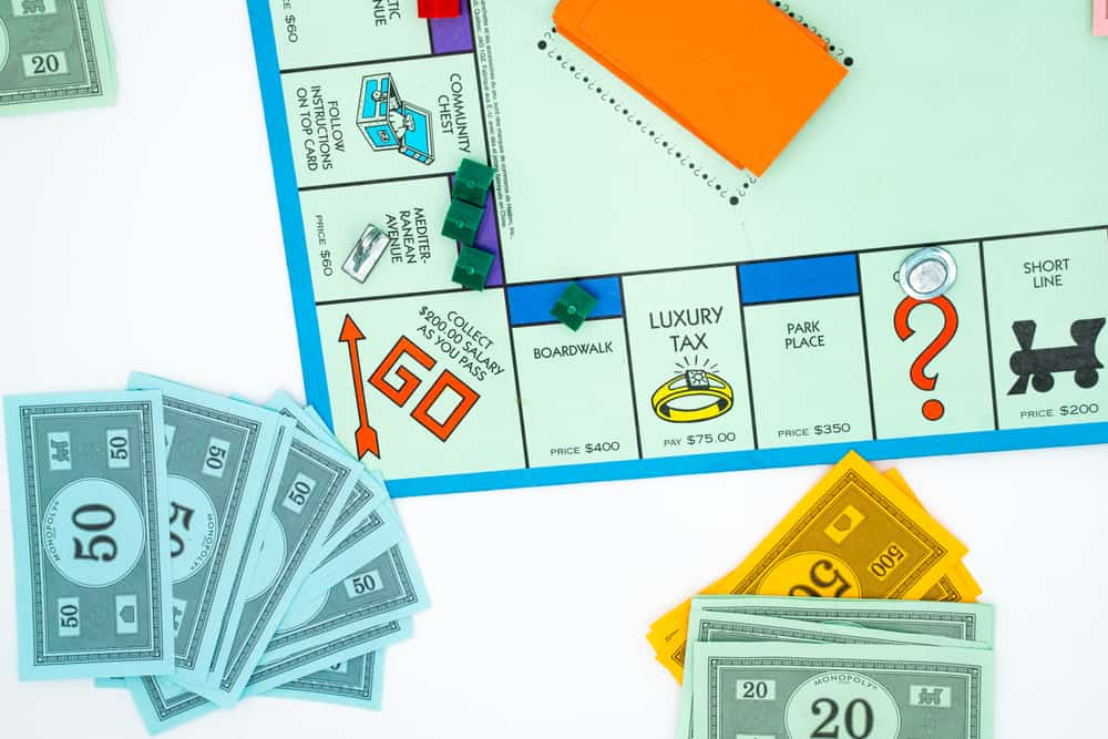 Monopoly board game. Family fun activity