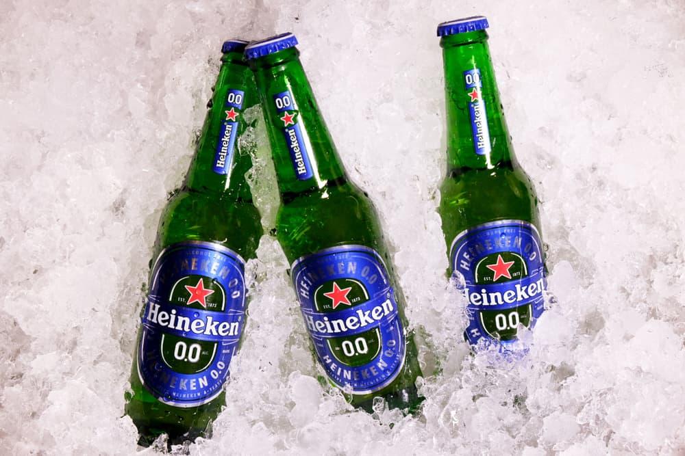 Non-alcoholic version of Heineken 0.0 beer