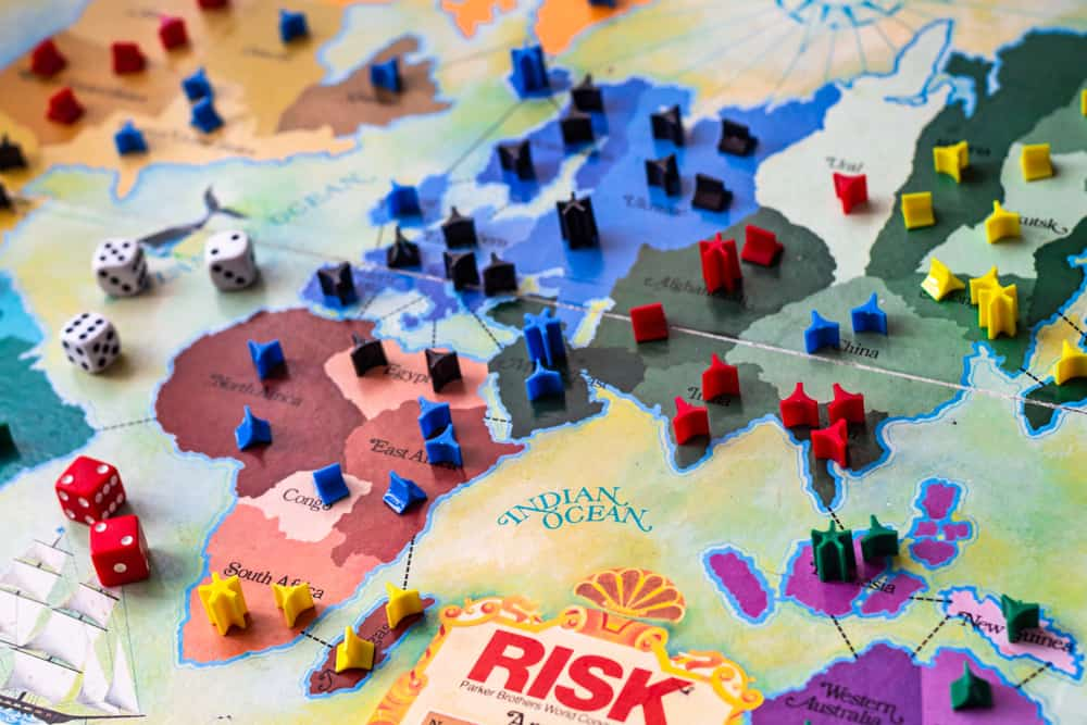 Risk board game - With cards, dice, and tokens