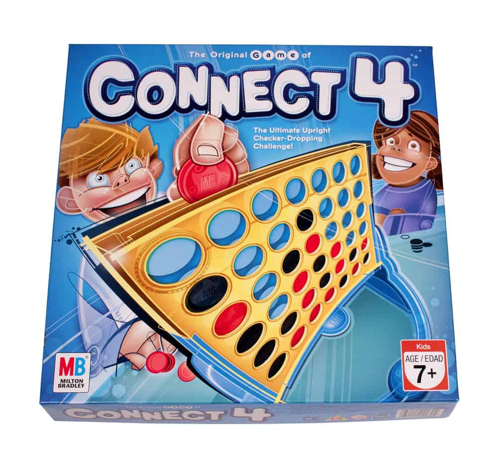 The game of Connect 4 by Milton Bradley