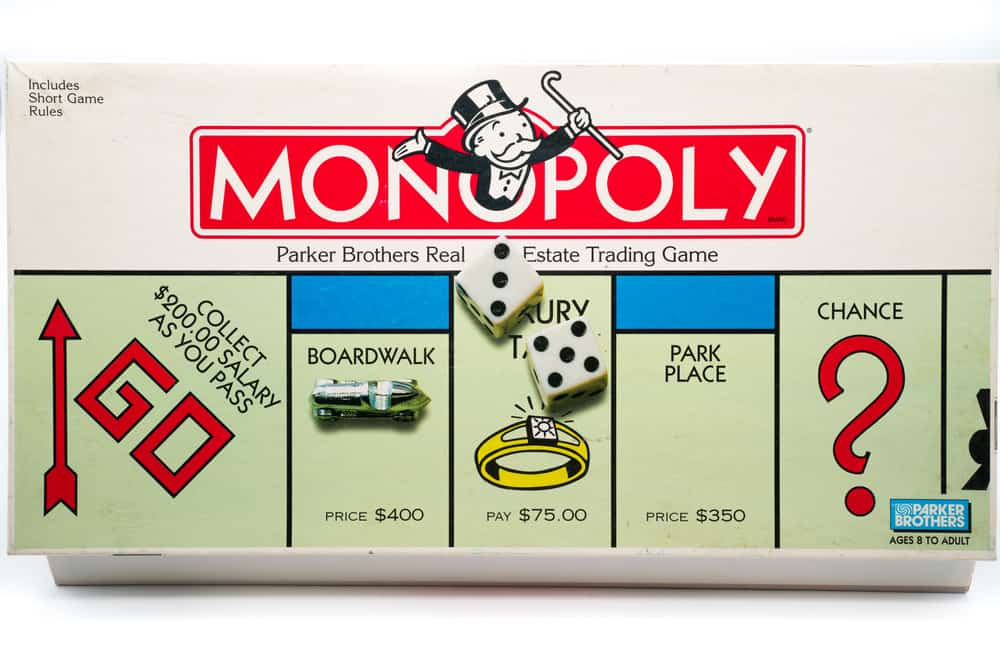 View of Monopoly board game