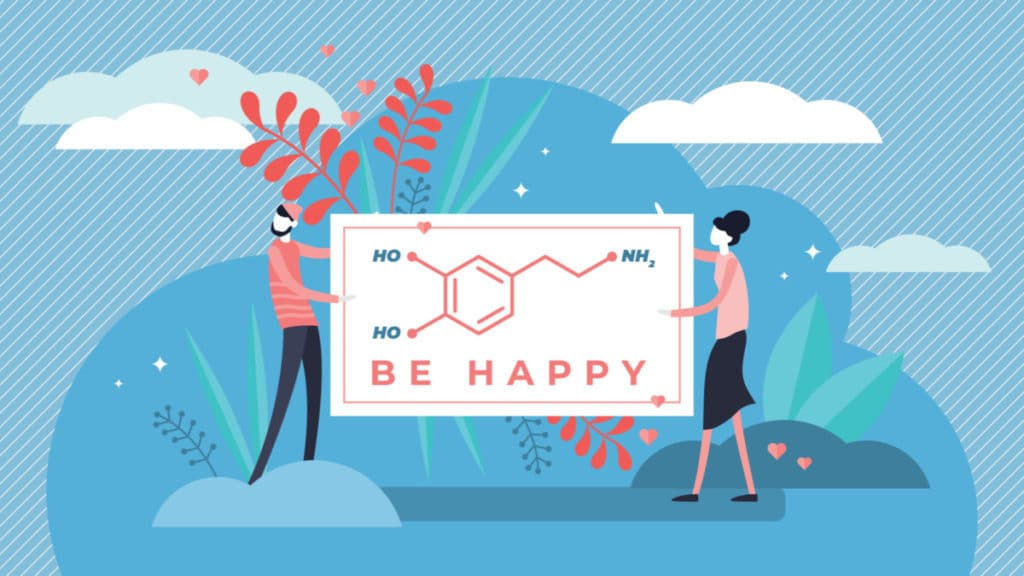 chemical happiness persons concept