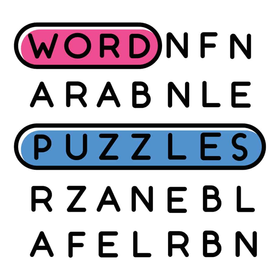 Illustration of Word search puzzle
