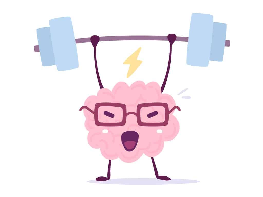 Illustration of brain exercising