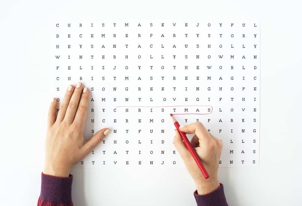 Word Search Puzzle concept