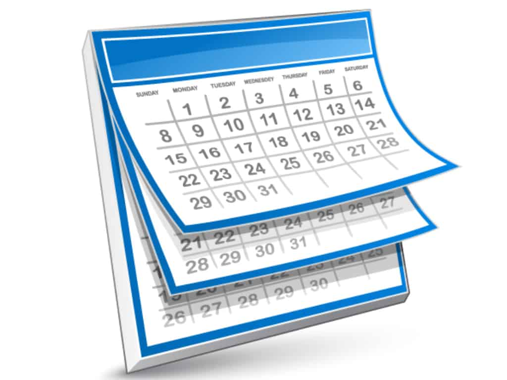 Calendar - days passing