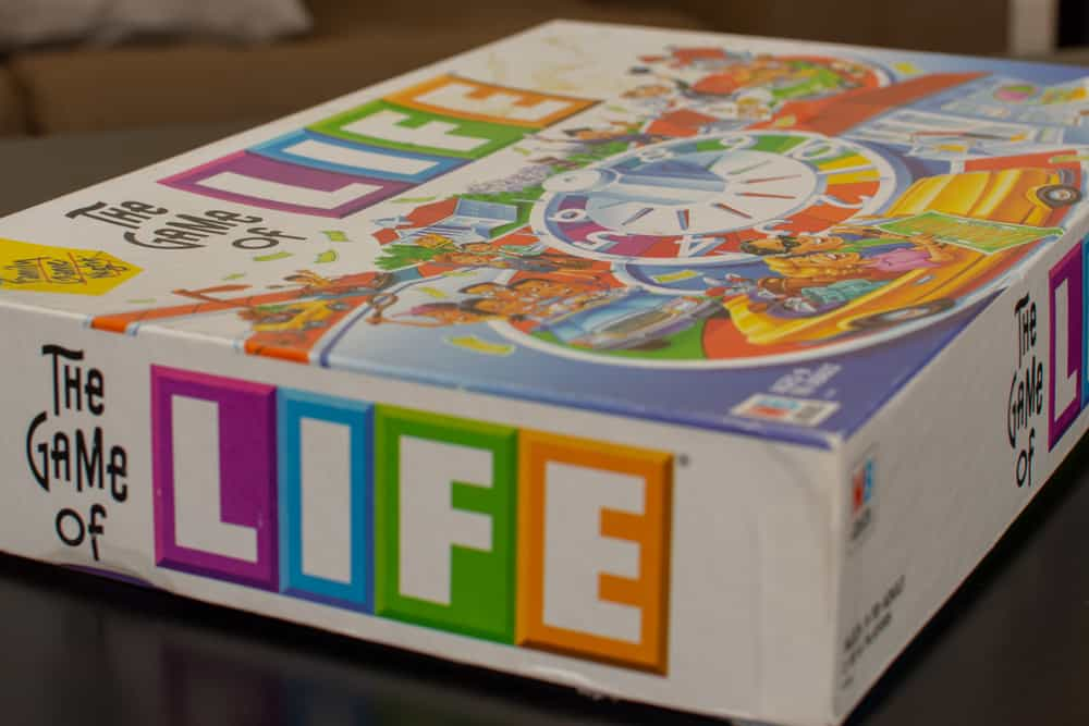 Game of Life Box set out on the table