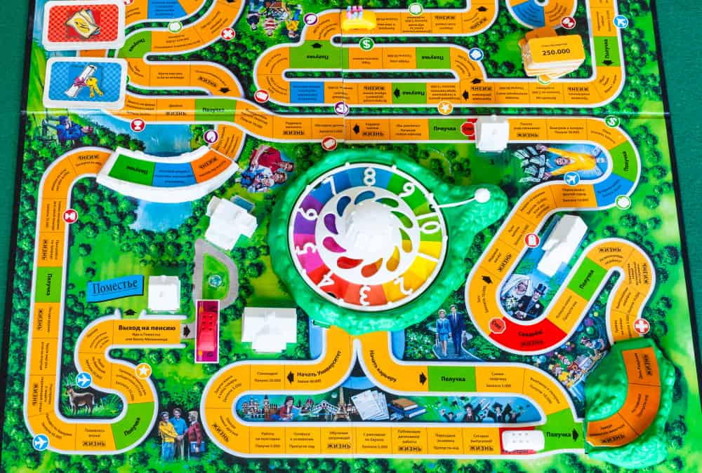 Gameboard of The Game of Life board game