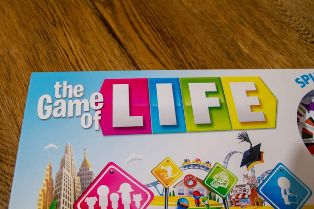 The Game of Life, board game, by Hasbro