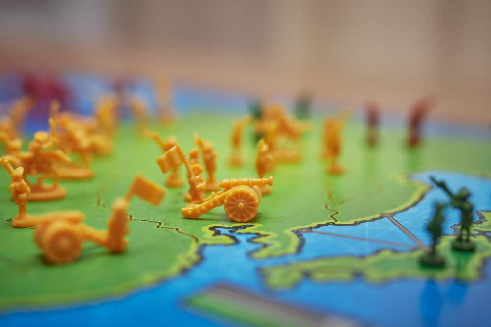 Detail of the Asia continent - strategy game Risk