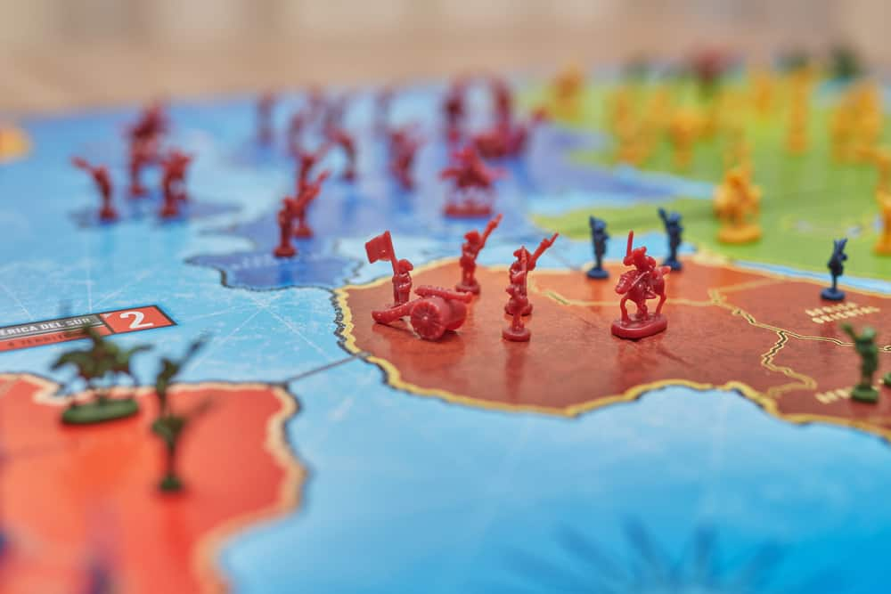 Detail of the geopolitical strategy game Risk