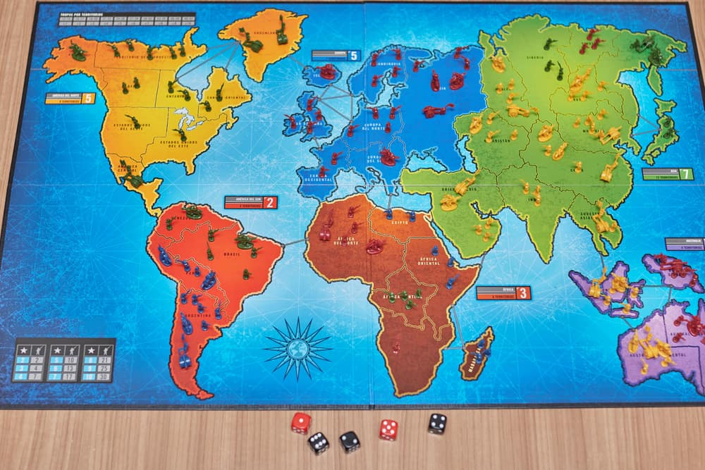 Overview of the Risk game board