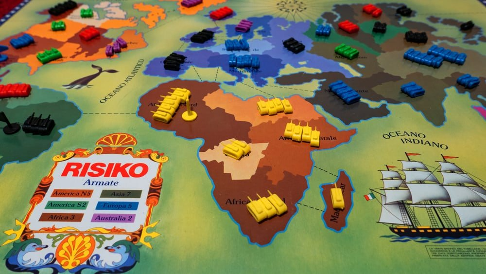 RisiKo! is a strategy board game, Italian stand alone variant of Risk