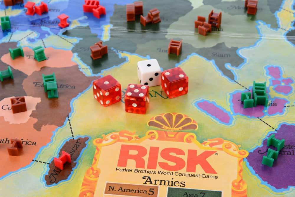 Risk (board game) closeup