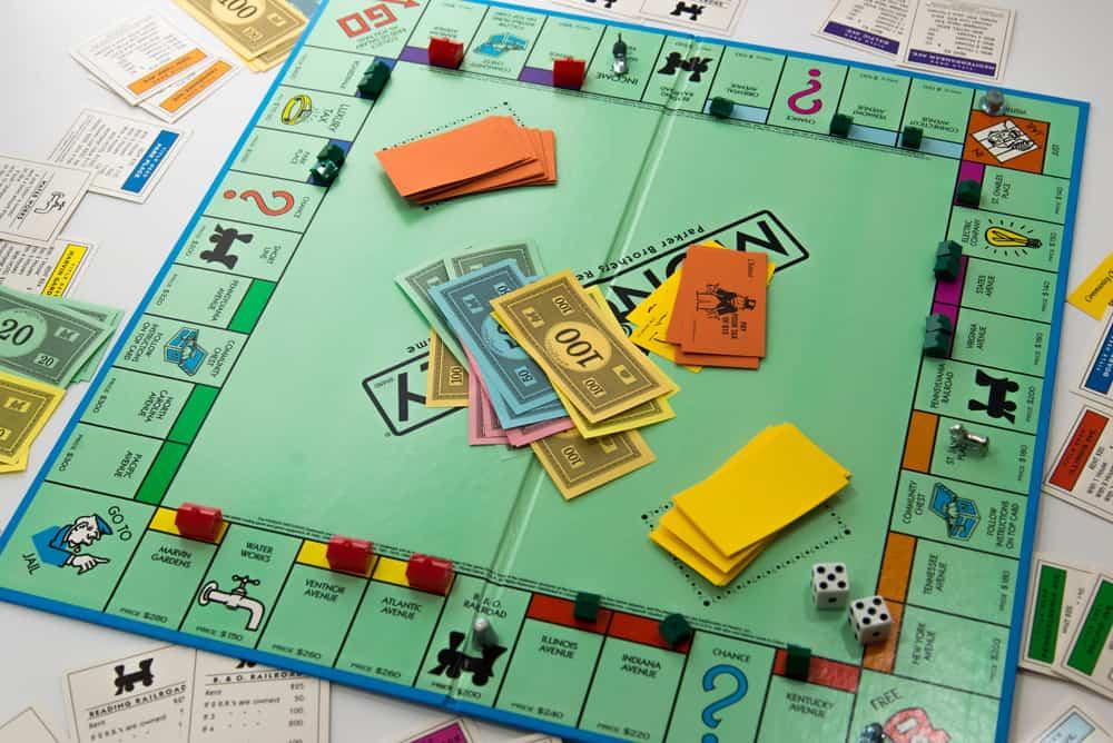 Standard Monopoly board game