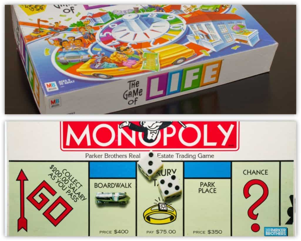 The Game of Life vs. Monopoly