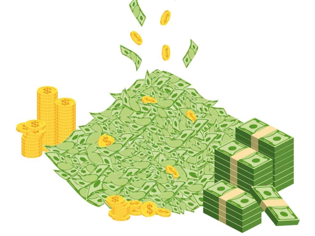 Wealth Accumulation - Huge packs of paper money